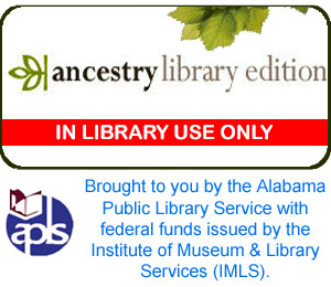 Ancestry.com available in library only